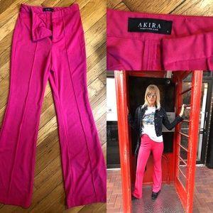 Akira hot pink wide leg pants